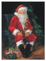 Santa And Presents Fine Art Print