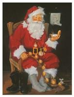 Santa In Chair Fine Art Print