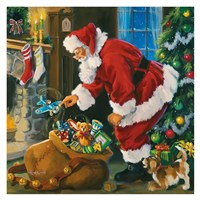 Santa's Magic Fine Art Print