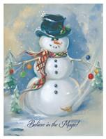 Snowman Magic Fine Art Print