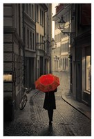 Red Rain Fine Art Print