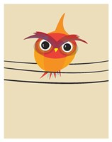 Owl on a Wire Fine Art Print