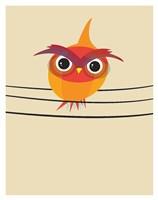 Owl on a Wire Fine Art Print