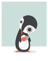 Pingu Loves Ice Cream Fine Art Print