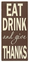 Eat Drink Fine Art Print