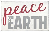 Peace on Earth - Red Fine Art Print