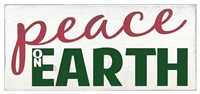 Peace on Earth - Red/Green Fine Art Print