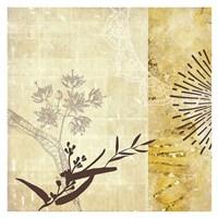 Golden Henna Breeze 1 Fine Art Print