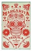 Margarita Recipe Fine Art Print