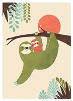 Mama Sloth Fine Art Print