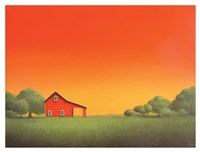 Barn at Sunset Fine Art Print