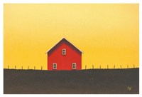 My Little Red Barn Fine Art Print