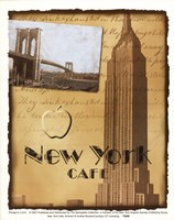 New York Cafe Fine Art Print