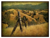Weathered Ranch Fence Fine Art Print