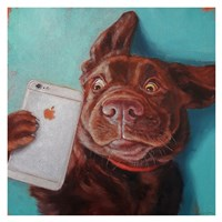 Dog Selfie Fine Art Print