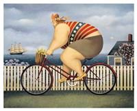 Mary's New Bike Fine Art Print