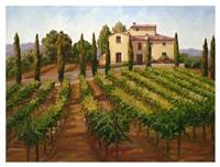 Hilltop Villa Fine Art Print
