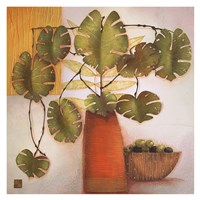Olive Bowl and Vase Fine Art Print