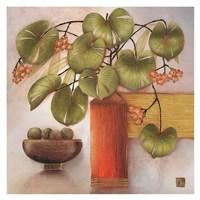 Passion Fruit and Vase Fine Art Print