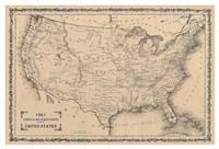 American Posts & Forts, 1861 Fine Art Print
