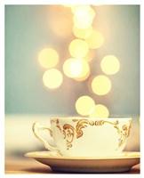 Tea Cup in Cold Bokeh Fine Art Print