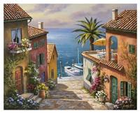 The Villa's Private Dock Fine Art Print