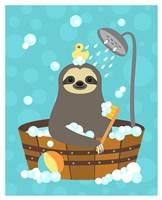 Bathing Sloth Fine Art Print