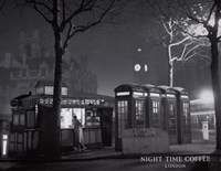 Night Time Coffee, London Fine Art Print