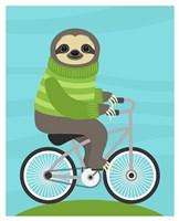 Cycling Sloth Fine Art Print
