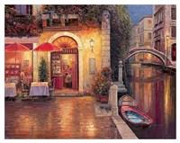 Night Cafe after Rain Fine Art Print