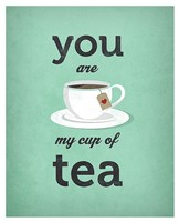 You Are My Cup of Tea (teal) Fine Art Print