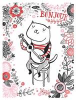 Cats of Paris - Musician Fine Art Print