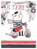 Cats of Paris - Scooter Fine Art Print