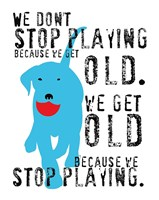 Don't Stop Playing Fine Art Print