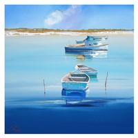 River Moorings Fine Art Print