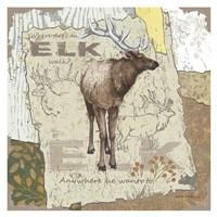 Elk Walk Fine Art Print