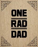 One Rad Dad - Brown Cardboard Fine Art Print