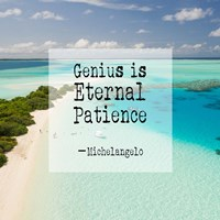 Genius is Eternal Patience - Beach Fine Art Print
