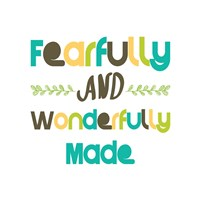 Fearfully and Wonderfully Made - Blue and Brown Fine Art Print