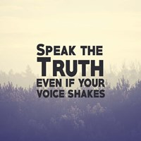Speak The Truth - Yellow Fine Art Print