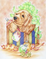 Christmas Box Puppy Fine Art Print