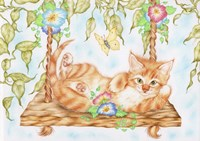 Swing Kitty Fine Art Print