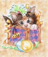 Christmas Box Kitten Fine Art Print