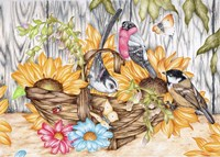 Bird Basket Fine Art Print