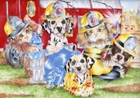 Fire Flurries Fine Art Print