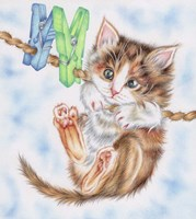 Hang In There Kitty Fine Art Print