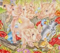 Piggy In The Middle Fine Art Print
