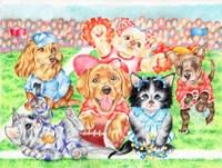 Fluffie Football Fine Art Print