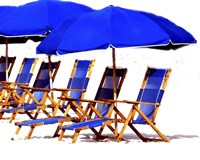 Beach Chairs II Fine Art Print