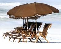 Beach Chairs V Fine Art Print